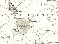 Gt.Bromley Map from 1881