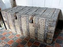 Iron-bound Oak Parish Chest, 1400 AD